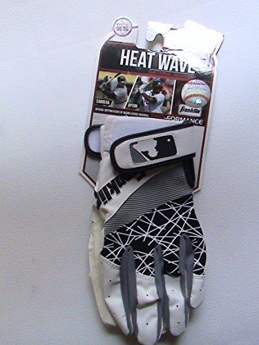 Franklin Sports Youth Heat Wave Batting Glove, Black and White - 1