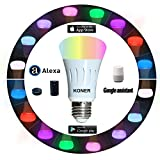 Smart Led Bulb, Compatible with Amazon Alexa and Google Assistant, Cellphone Control, 7W (60W Equivalent), Color Tunable Wi-Fi A19 Light