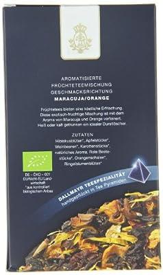 Dallmayr Teepyramiden - Früchtetee - Maracuja / Orange, 1er Pack (1 x 80 g) - Bio von Dallmayr - Gewürze Shop