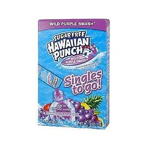 Sugar Free Hawaiian Punch Wild Purple Smash Singles to Go 8 Packets (4 Pack)