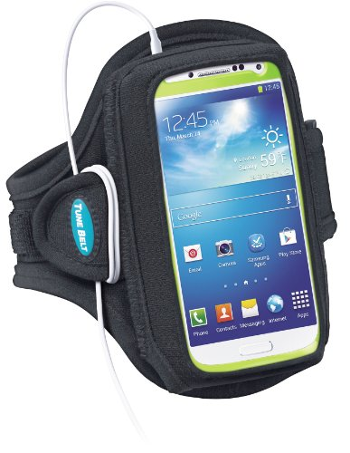 Armband for Galaxy S3, S4 with OtterBox; Also fits iPhone 5/5s/5c/SE with OtterBox Defender - Great for Running, Jogging, Sports & Workouts - for Men & Women [Black] (Sport Case Samsung S3 Mini compare prices)