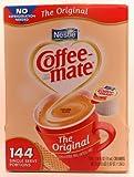 Nestle Coffee-mate Coffee Creamer - Oringal Flavor - 144 Single Serve portions - 3/8 fl oz (11mL) Creamers Net wt 53.5 fl oz (1.67QT) (1.58l)