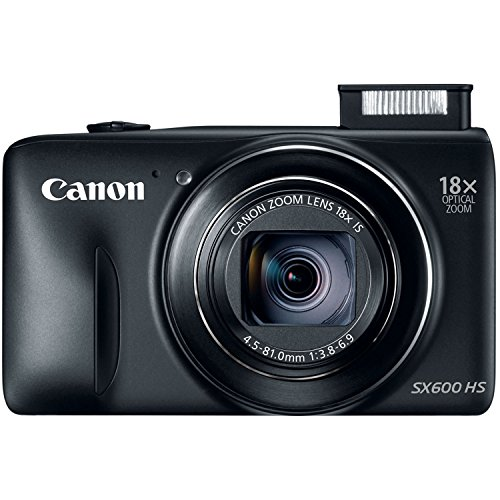 Canon PowerShot SX600 HS 16MP Digital Camera (Black) (Canon Sx600 Hs Camera compare prices)
