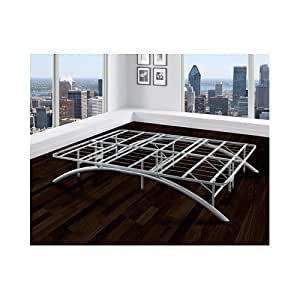 metal bed frame arch king size sturdy support bedroom sleepover loft guest