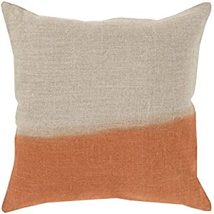 18 burnt orange and gray dip dyed decorative throw pillow. Black Bedroom Furniture Sets. Home Design Ideas
