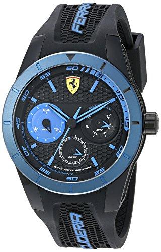 Caja de plástico de Ferrari 0830256 44,1 mm de caucho de color negro para la protección de reloj de pulsera de los hombres