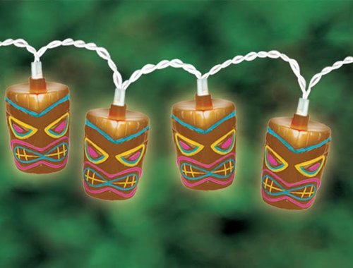 amscan tiki patio string lights 9 feet arts entertainment party