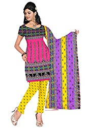 Ustaad Printed Cotton Dress Material