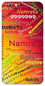 Namrata (Politeness) Name & Sign Printed All over customize & Personalized!! Protective back cover for your Smart Phone : Apple iPhone 5/5S