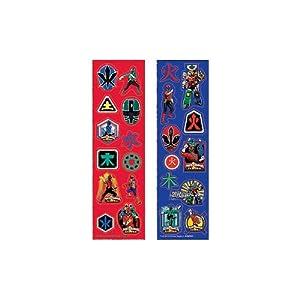 Amscan Unisex Adult Power Rangers Samurai Sticker Strips Red/black Medium