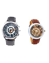 Foster's Men's Grey Dial & Foster's Women's Brown Dial Analog Watch Combo_ADCOMB0002327