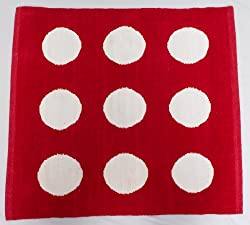 Bandbox Cube Rug - Red (Size-- 24 in. x 24 in.)