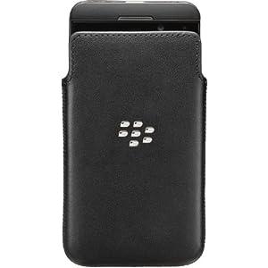 BlackBerry ACC-49276-201 Carbon Look Ledertasche für Z10 Handy schwarz von Blackberry