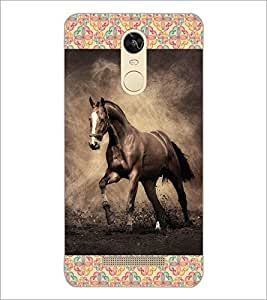 PrintDhaba Horse D-6025 Back Case Cover for XIAOMI REDMI NOTE 3 (Multi-Coloured)