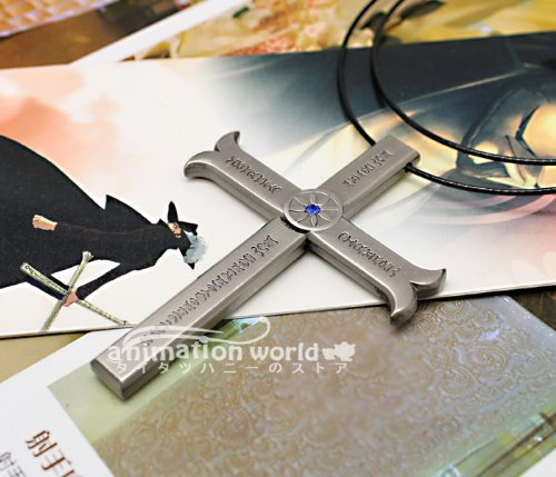 "Black Eye Mihawk Sword Cosplay Prop, Accessory ""One Piece"" Of (One Piece) Hawk [Night] Cross Sword Necklace Silver Costume Cos Tool (Japan Import)"
