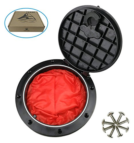 T-O-K-G-O--6-Inch-Hole-Diameter-Deck-Hatch-with-Cat-Bag-for-Kayak-Boat-Fishing-Rigging