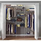 ClosetMaid 1608 5ft. to 8 Ft. Closet Organizer Kit, White