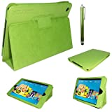 Stuff4 PU Leather Professional Portfolio Magnetic Case/Stand Cover for Kindle Fire HD 7 - Green