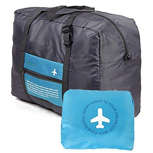 wandf-foldable-travel-duffel-bag-luggage-sports-lightweight-gym-water-resistant-nylon-32l-blue