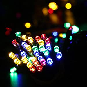 [All-New 200 LEDs]LuckLED Solar Christmas Lights, 72ft LED Fairy Decorative String Lights for Outdoor, Home, Patio, Lawn, Party and Holiday Decor(Multi-Color)