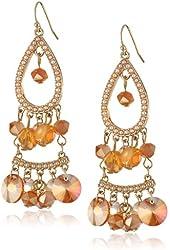 Jessica Simpson Drama Stone Chandelier Drop Earrings