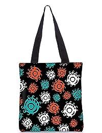 Snoogg Colorful Circles Digitally Printed Utility Tote Bag Handbag Made Of Poly Canvas - B01C8LVTPS