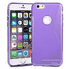 iPhone 6 Plus Case, Pasonomi® 0.3mm Ultra Thin Clear Rubber Soft TPU Matte Case Cover For Apple iPhone 6 Plus 5.5 (S-line Purple)