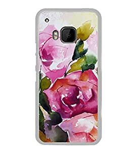 Rose Painting Water Colour 2D Hard Polycarbonate Designer Back Case Cover for HTC One M9 :: HTC One M9S :: HTC M9 :: HTC One Hima