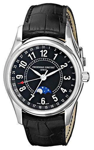 Frederique Constant FC-330B6B6 - Reloj de pulsera hombre, piel, color negro