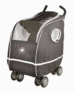 Warm as a Lamb Single or Jogging Stroller Cover Black