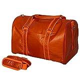 PackNBUY TAN ORANGE Premium Carry On Luggage Travel Duffle Bag