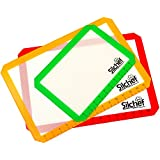 Silchef Professional Silicone Baking Mat Set of 3 - 2 x Standard Half Sheet, 1 x Toaster Oven - Non Stick Heat Resistant Liners for Cookie Sheets