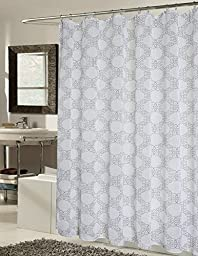 RT Designers Collection Verona Shower Curtain with Roller Hooks, 70 x 72\