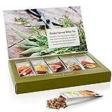 Tea Forte GARDEN HARVEST WHITE Single Steeps Organic White Tea Loose Leaf Tea Sampler, 15 Single Serve Pouches, Fresh Fruit and Herb Flavors