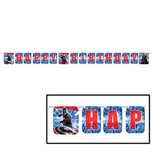 The Avengers Birthday Banner