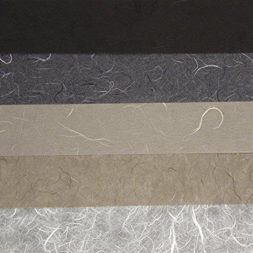 RAYHER - 7137200 - Papier-Set DIN A3 Schwarz-Grau-Töne, SB-Btl. 5 St. verschiedene Farbtöne