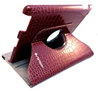SANOXY® 360 Degrees Rotating Stand PU Leather Case for iPad 2/3/4, iPad 2nd generation (iPad 2/3/4 CROCODILE BROWN) by SANOXY
