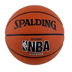 "Spalding Varsity Rubber Outdoor Basketball - Intermediate Size 6 (28.5"")"