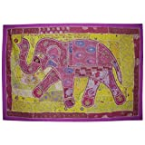 Embroidered Design Handmade Indian Elephant Art Wall Decorative Tapestry 101 ...