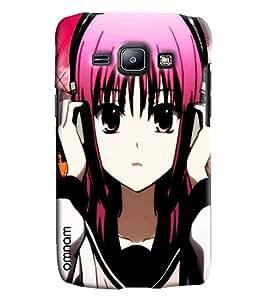Omnam Cartoon Girl Listening Music Printed Designer Back Cover Case For Samsung Galaxy J1