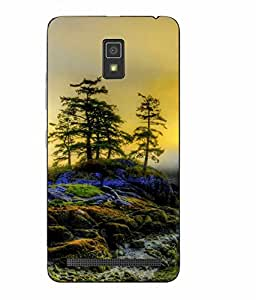 Case Cover Nature Printed Multicolor Soft Back Cover For Lenovo A7700