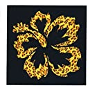 Hibiscus Flower Cheetah Decal Sticker Die Cut