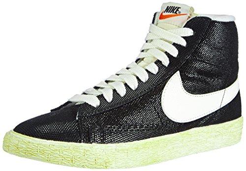 Nike Womens Blazer Mid Suede VNTG Black/Wolf Grey/Sail 518171-009 9.5