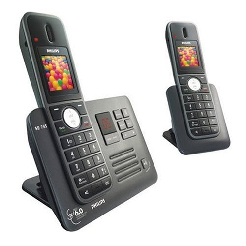 Philips SE7452B Enhanced High DefVoice Digital Dual Cordless Phone Answer Machine