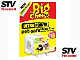 THE BIG CHEESE Ultra Power Enclosed Pet And Child Safe Pre Baited Mouse Trap STV151