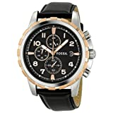 Fossil Dean Chronograph Black Dial Mens Watch FS4545