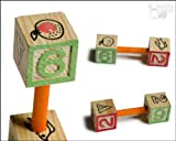 鳥用おもちゃ 木製 サイコロ バーベル アルファベット&数字☆