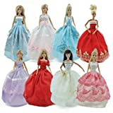 Toy - E-TING 5 P 5x Fashion Handmade Clothes Dresses Grows Outfit for Barbie Doll