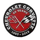 Corvette 4 3/4 Embroidered Patch - Chevrolet Corvette 1953 - 2013 / Chevy Corvette