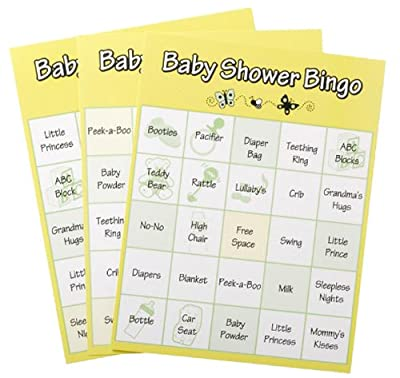 Baby Shower Bingo Game, 72 Piece